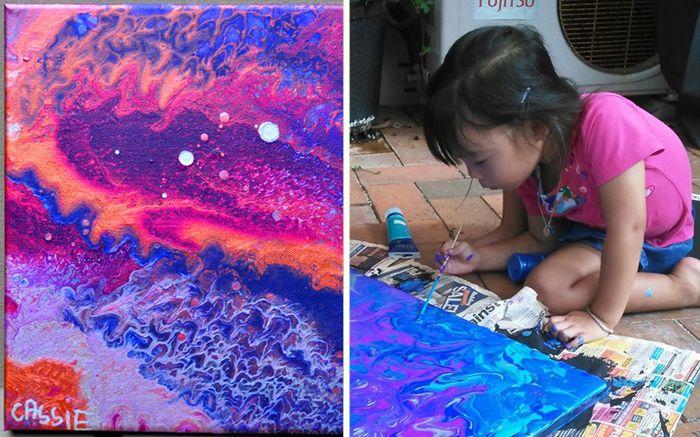 Живопись: 5-летняя девочка превращает акриловые кляксы в потрясающие картины и помогает больным раком http://kleinburd.ru/news/zhivopis-5-letnyaya-devochka-prevrashhaet-akrilovye-klyaksy-v-potryasayushhie-kartiny-i-pomogaet-bolnym-rakom/