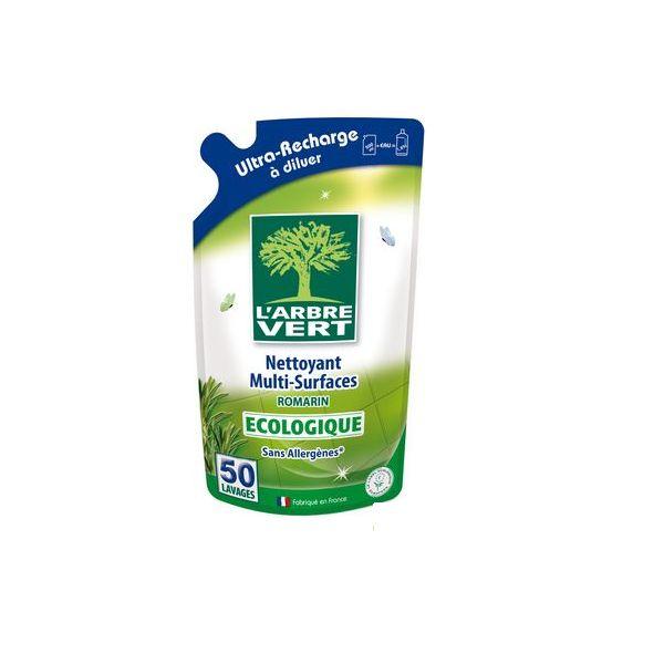 Recharge Multi-Surfaces écologique Romarin - 500 ml - L'arbre vert - Le Coq Vert