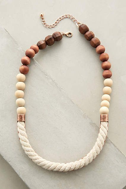 ***I bought this and love it--a nice blend of materials, but neutral enough to wear with a lot of things. Ropewood Necklace - anthropologie.com