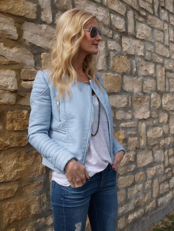 Baby Blue Faux Leather Jacket Zara Blue Leather Jacket