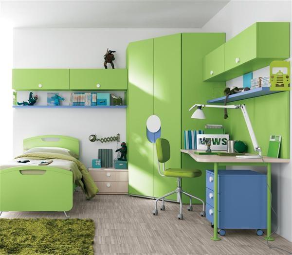 M s de 20 ideas incre bles sobre habitaciones de color - Habitaciones infantiles verdes ...
