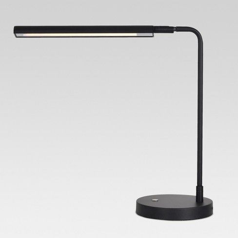 You'll love working at your desk when it's illuminated by the Project 62™Â™ Strip 4-Way Touch Task Lamp. This small desk lamp offers modern and stylish good looks and features a warm glow perfect for all of your desk-centric activities. The energy efficient LED lights are built in, so there's no need to buy lightbulbs for this beauty.<br><br>1962 was a big year. Modernist design hit its peak and moved into homes across the country. And in Minnesota...