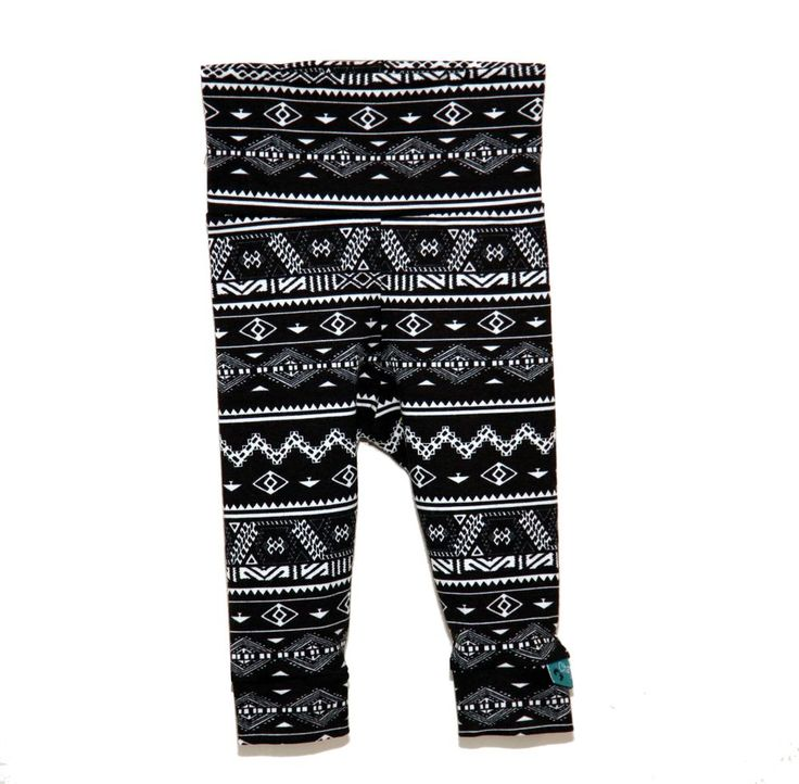 Black/White Tribal Leggings via Charmtrolls Design. Click on the image to see more!