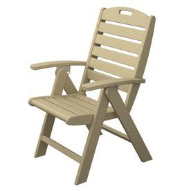 Trex Outdoor Furniture Yacht Club  Sand Castle Plastic Patio Dining Chair Txd38sc