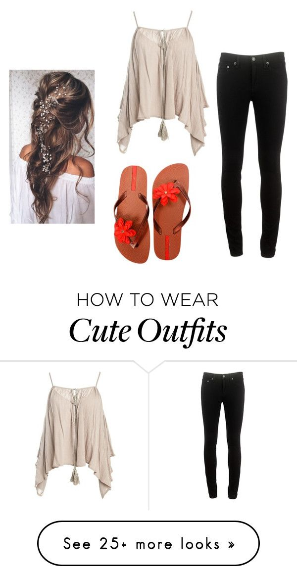 """""""Cute Vacation Outfit"""" by makie223 on Polyvore featuring Sans Souci, rag & bone and IPANEMA"""