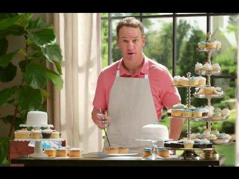 "Peyton Manning Making CupCakes - Papa John's TV Commercial, ft J.J. Watt - ""Oooo, cupcakes???"" hahaha and creamy on the inside hahaha fit for a cream puff"