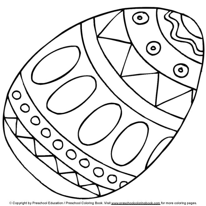 Dibujos De Pascua Para Pintar Español K 8 Easter Egg Coloring