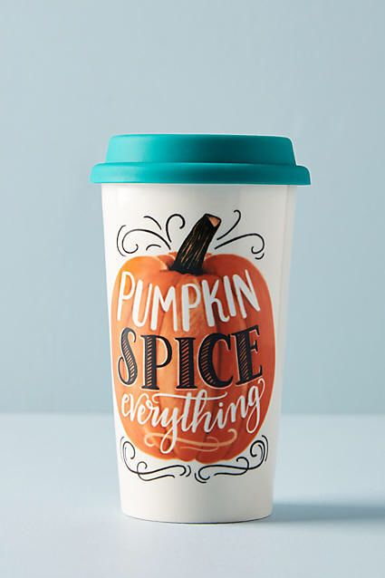 Pumpkin spice everything! Lol love this cup! Coffee mug travel cup, fall, autumn #aff