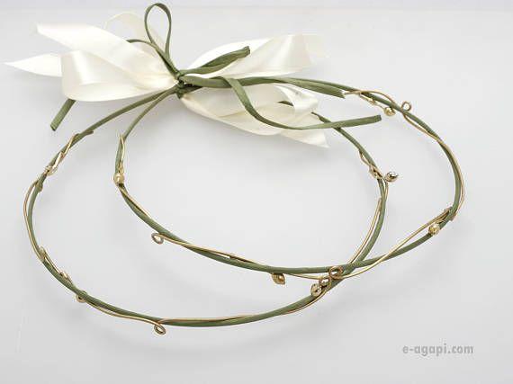 Olive stefana Unique wedding crowns Greek stefana orthodox