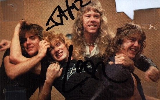 Old school Metallica with Dave Mustaine.