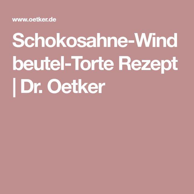 Schokosahne-Windbeutel-Torte Rezept | Dr. Oetker