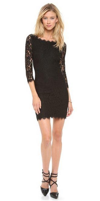 The Little Black Dress in Lace | Diane von Furstenberg | $325.00