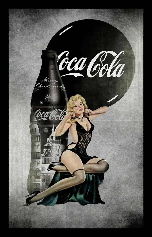 coke pin up girl