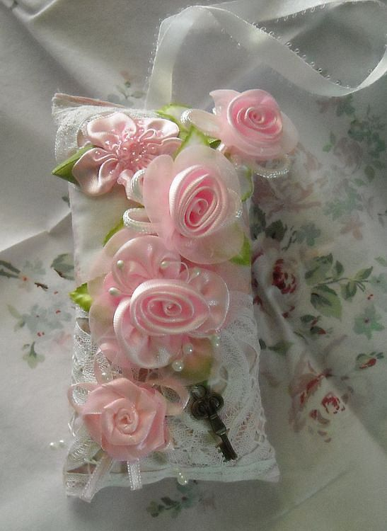 Elegant Cottage Chic Sachet Dripping With Roses by wildbearies, $10.99