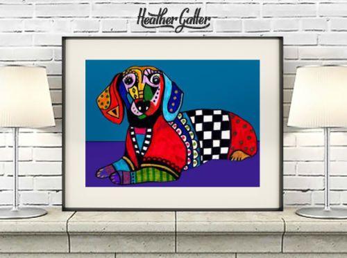 Dachshund-Doxie-Art-Print-Poster-11x14-Heather-Galler-Dog-Lovers-Gift