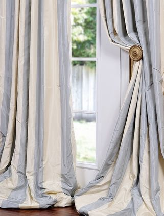 REpin from #TheCurtainExchange - puddle window treatment #Window #details