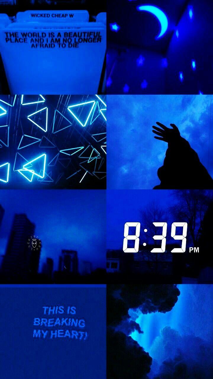 Lockscreen Random Aesthetic Aesthetic collage, Blue