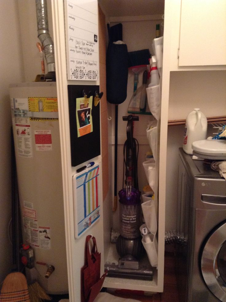 Mop Closet : 17 Best images about broom closet on Pinterest Whisk broom, Hanging ...