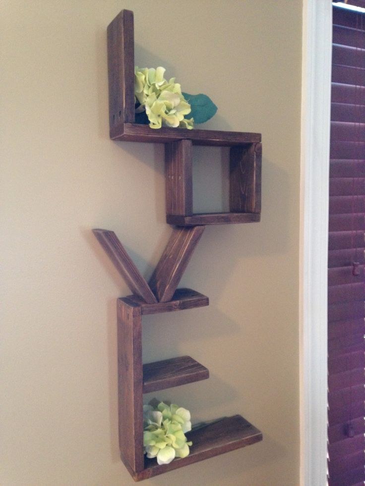 25 best images about my completed diy projects on for Pallet floating shelves