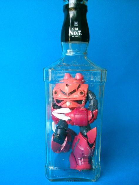 sinyasiki: (RG ズゴック(同僚の誕生日プレゼント)ボトルガンプラ3 - 機動戦士ガンダム - プラモデル - りっしぃさんの写真 - 模型が楽しくなるホビー通販サイトホビコムから)