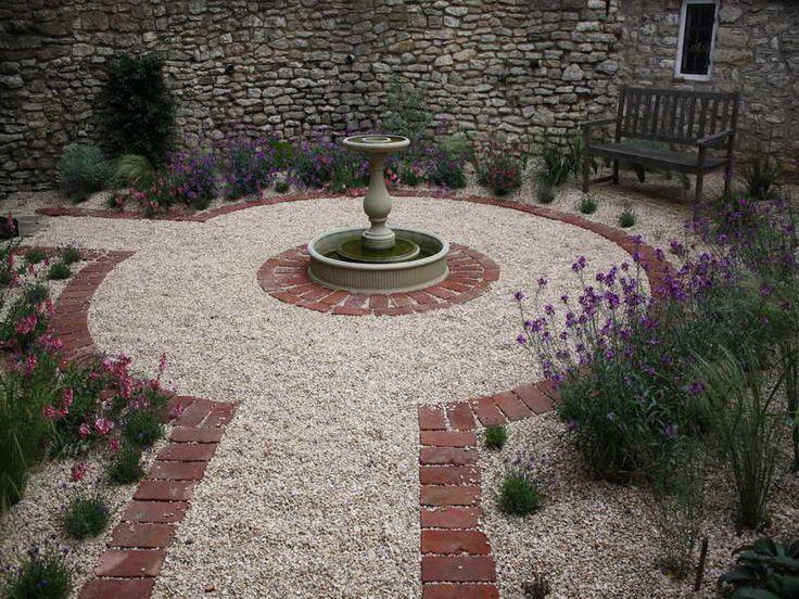 Outdoor:Brick Courtyard Designs In Uniquely Concept Beautiful Brick Courtyard  Designs Ideas