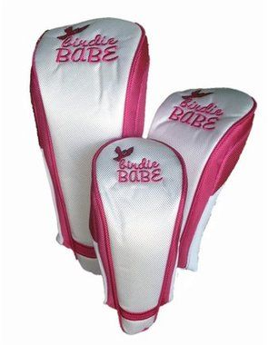 Birdie Babe White and Pink Golf Headcovers