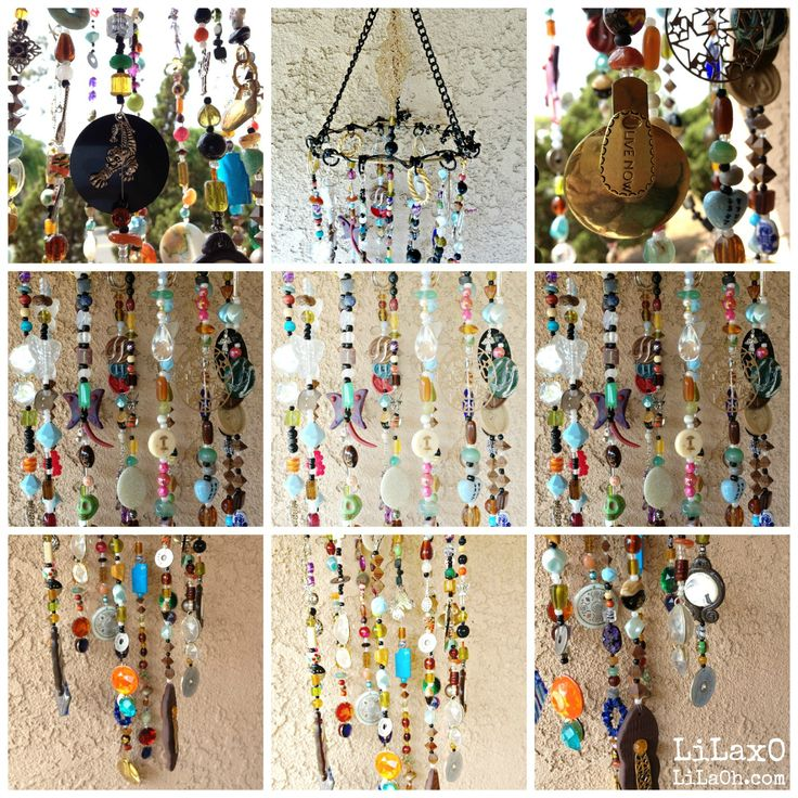 Mobile Suncatcher Chimes Home Garden Decor Beads by LiLaXO bohemian decor