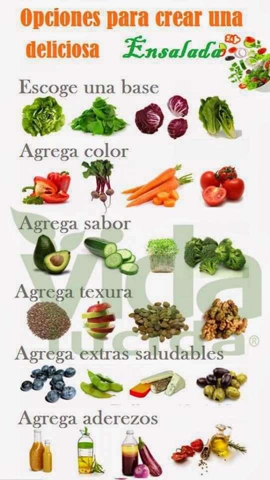Opciones para crear una deliciosa y saludable Ensalada