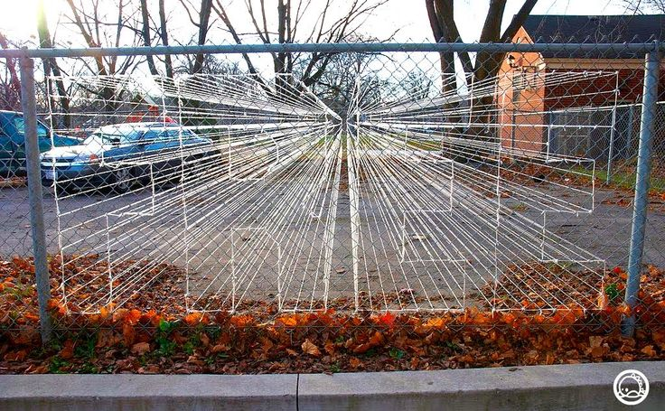 Best images about chain link fence art on pinterest