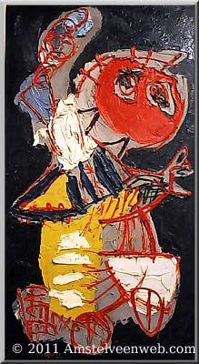 Karel Appel, (1921-2006), Tot verbazing van de leden kreeg Cobra in 1949 toch een expositie in het Stedelijk Museum in Amsterdam. De tentoonstelling werd een schandaal. Teleurgesteld daarover vestigde Appel zich in 1950 in Parijs. Later vertelde hij dat het voortdurende gescheld hem uit Nederland had verjaagd. Dezelfde expositie als in het Stedelijk Museum was vervolgens te zien in Parijs en werd daar veel beter ontvangen dan in Amsterdam.