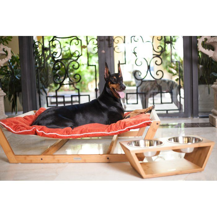 There is no need to sacrifice your finely planned home décor any longer while trying to integrate your pet into your home. The Bambú Pet Hammock II is created with a sustainable and solid bamboo frame, a very unique mattress support system and the highest quality removable and washable cushion. Inspiration was drawn directly from the same philosophy used by some of the most recognized Scandinavian furniture designers, which was to showcase the natural b...