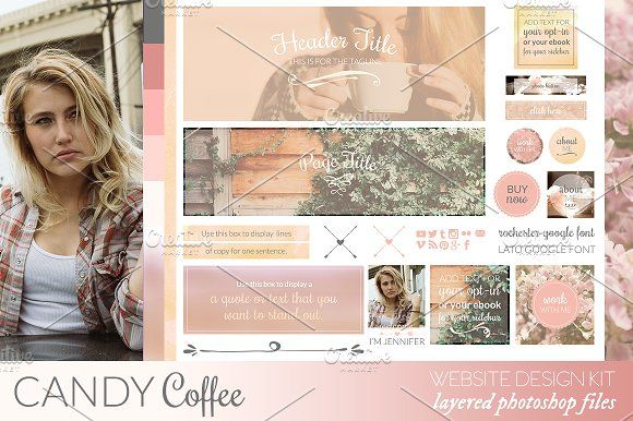 Candy Coffee Website/Blog Kit  @creativework247