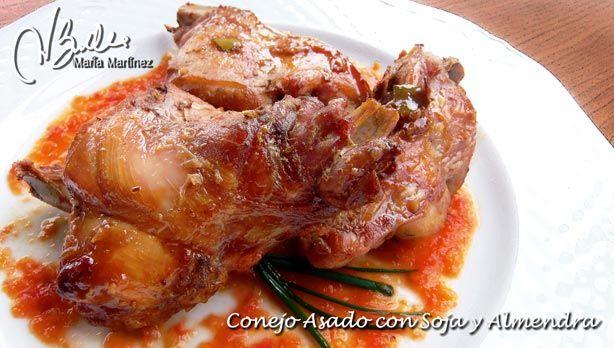 Asado de Conejo con Soja y Almendra (apto para la dieta Dukan,  en Crucero PP y PV)