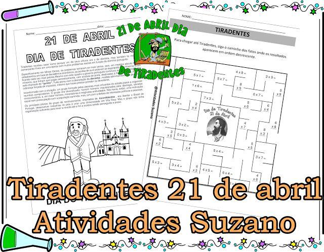 21 de abril Tiradentes - Atividades Adriana