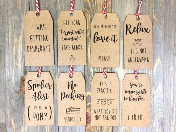 Christmas Tag Pack 1.0    Set of 8 Tags    by LaceandMasonCo