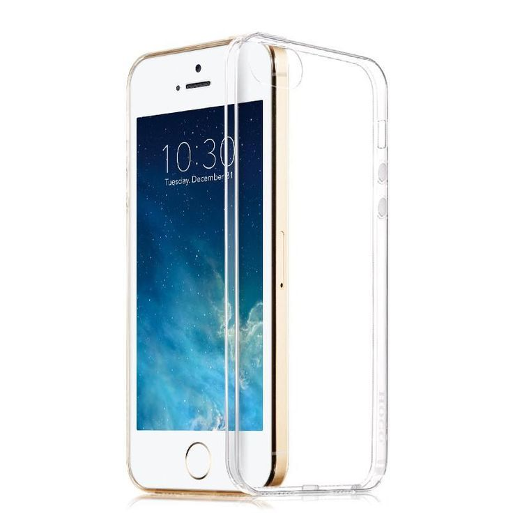 Tower Luxury Ultra Thin Transparent Tpu Soft Silicon Capa Case For Apple Iphone 5 5s Phone Anti-Dust Back Cover Cases Wholesale