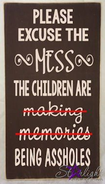 Excuse the Mess wood sign #woodsign #quote #sarcasm #sign  www.starlightcreations.ca