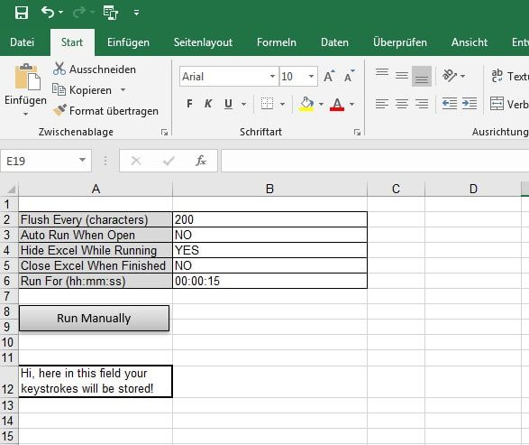 How Do I Write A Simple Keylogger In Excel Excel Lower Case Letters Writing