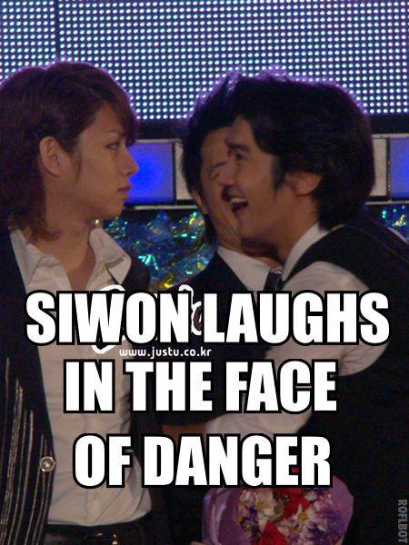 and Heechul is danger: Funnies Superjunior, Heechul Kpop, Kpop Siwon, Kpop Macro, Laughing Superjunior, Superjunior Heechul, Super Junior, Funnies Kpop, K Pop