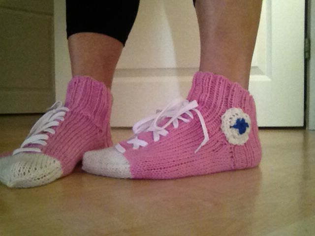 Knitted Converse socks  - even the kids love these :)
