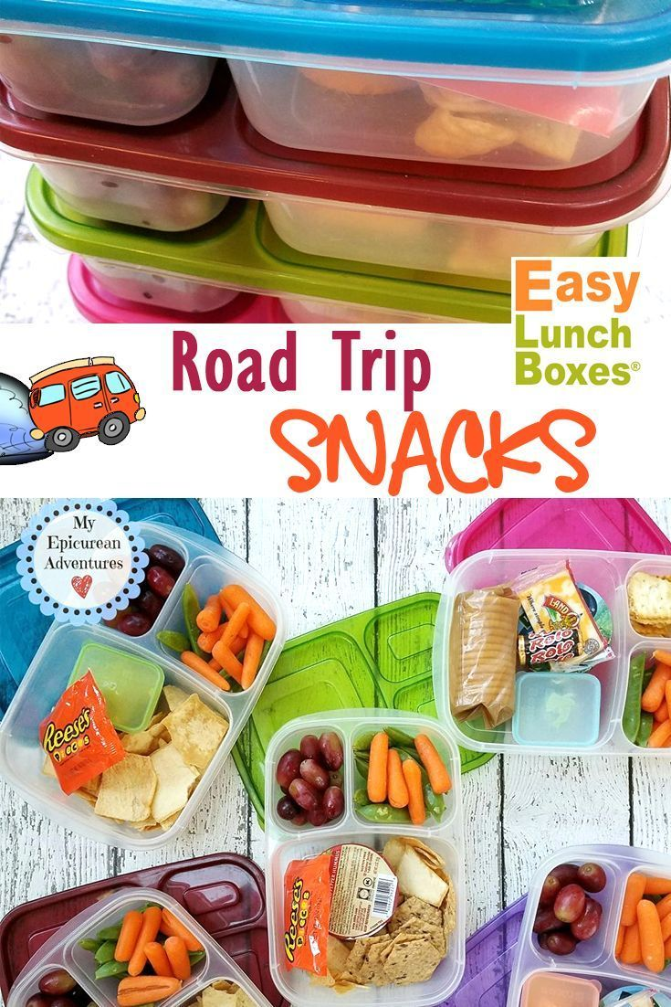 Skip the fast food stops and pack your own road trip snacks instead! It's easy with /easylunchboxes/