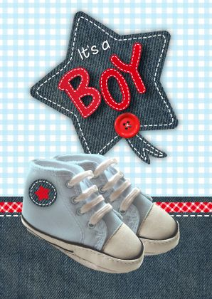 Boy Schoentjes - Felicitatiekaarten - Kaartje2go