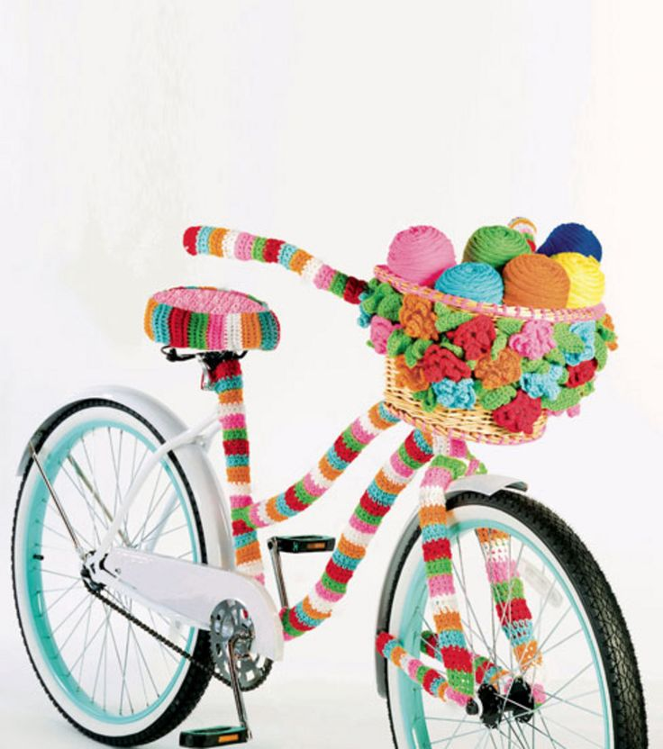 61 besten fahrrad beh keln bilder auf pinterest guerilla knitting stricken h keln und h keln. Black Bedroom Furniture Sets. Home Design Ideas