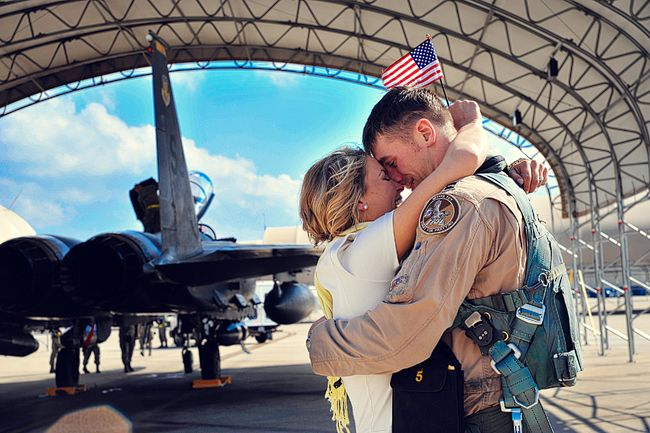 """Original pinner wrote, """"I love this blog for amazing homecoming photos and military engagement ideas!"""""""
