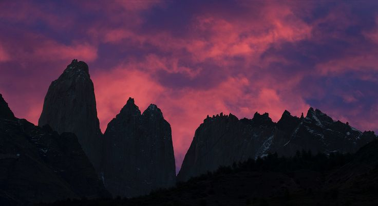 https://flic.kr/p/QTXcs1 | Chile | Chile. Panoramic view of Torres del Paine at sunset.