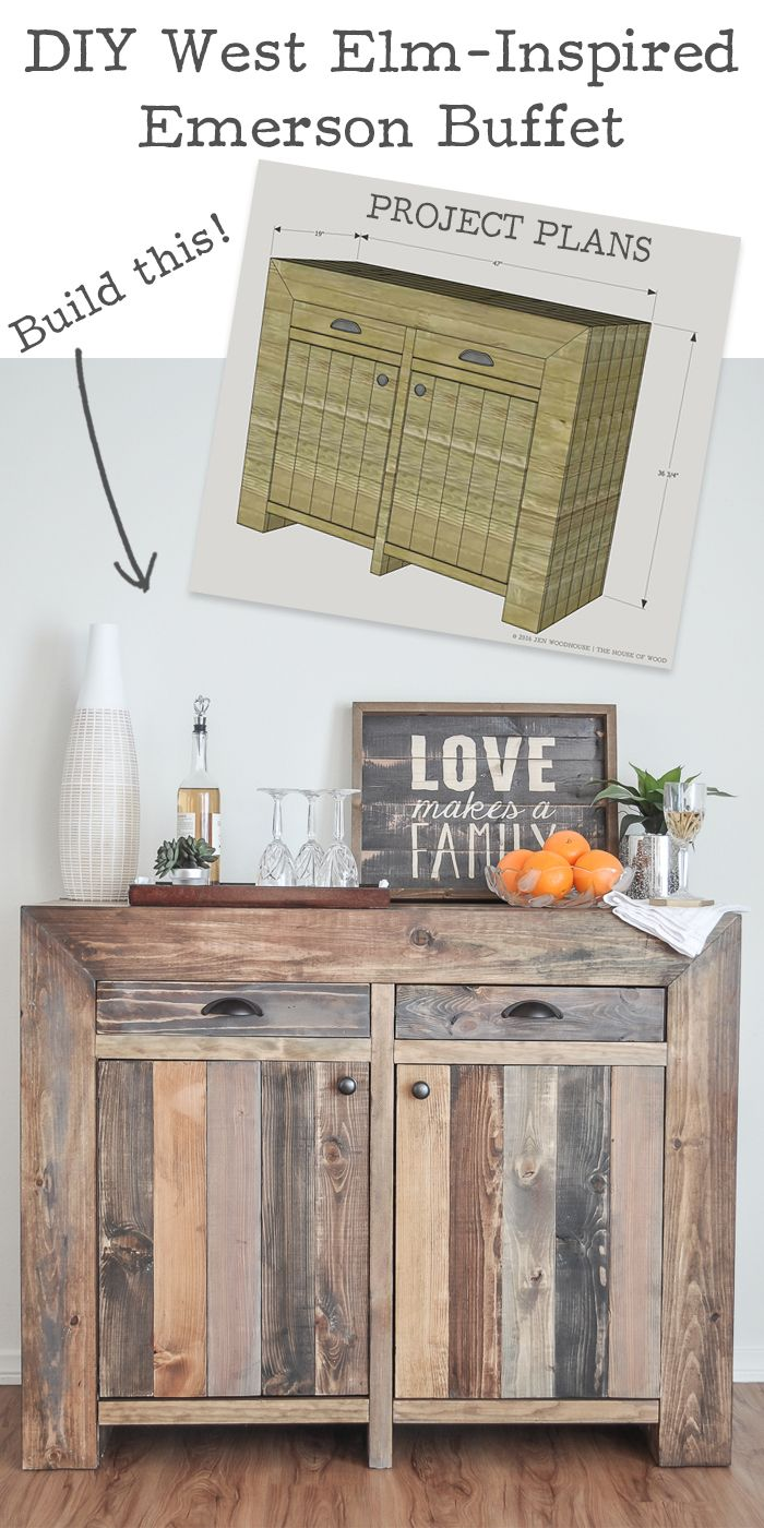 How to build a DIY West Elm-inspired Emmerson Buffet