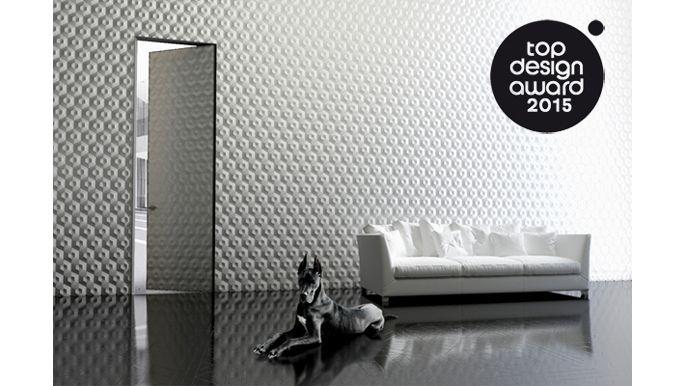 PIU Design: wysokie drzwi wykończone  corianem, wykonane w technologii Aluminium Design