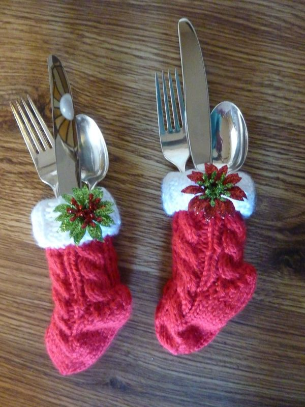 Cutlery Christmas Stocking Knitting Pattern : 30 best images about Christmas Crafts & Ideas on Pinterest Ravelry, Pat...