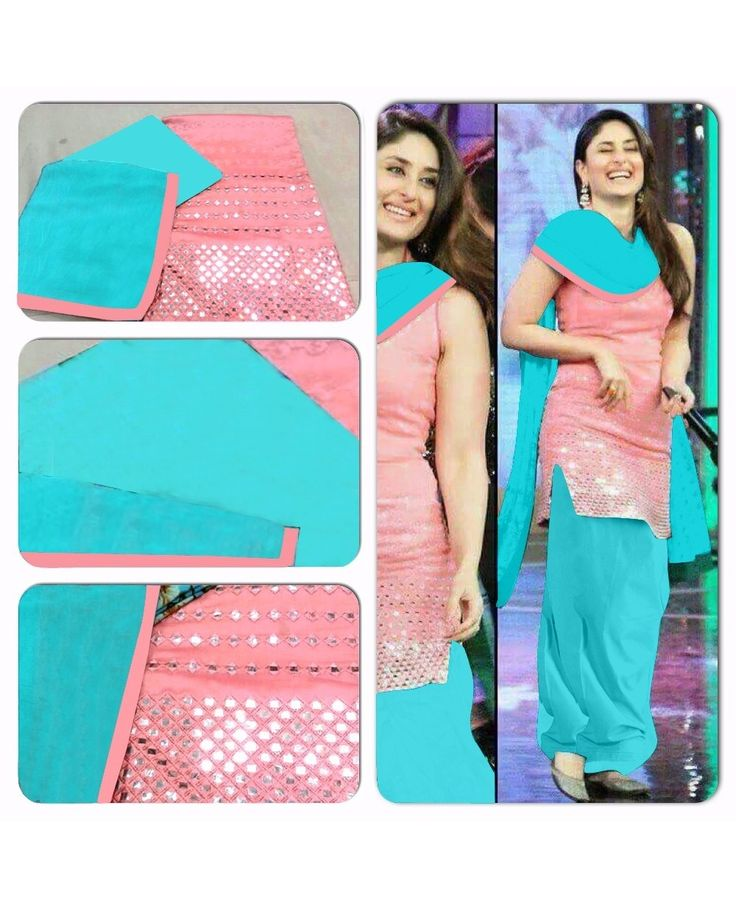 Light Pink Cotton with Mirror Embroidery work Patiala salwar Suit with Pure Chiffon Dupatta