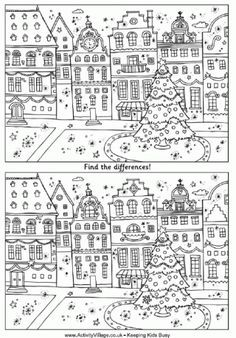 Find The Differences - Christmas Street